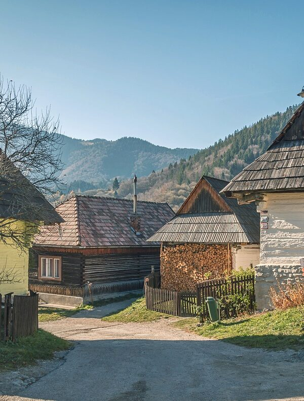 The wooden village, a quiet spot away from the crowds