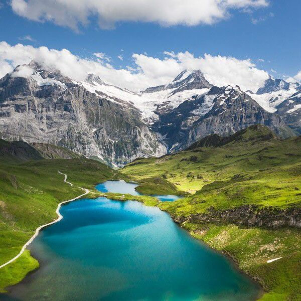 Beautiful and spectacular lakes of Switzerland
